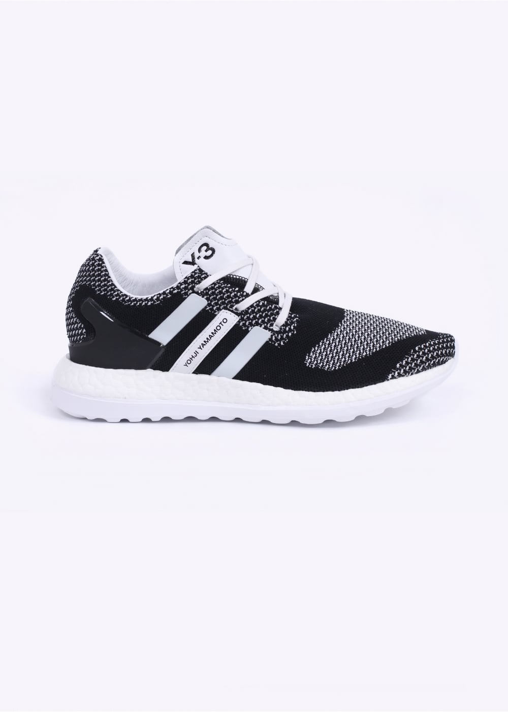 eb3893510f5e9 adidas Y-3 Pure Boost ZG Knit Trainers - Black   White