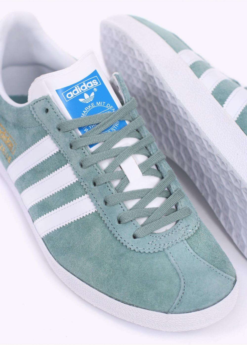 Gazelle OG Trainers - Legend Green / White