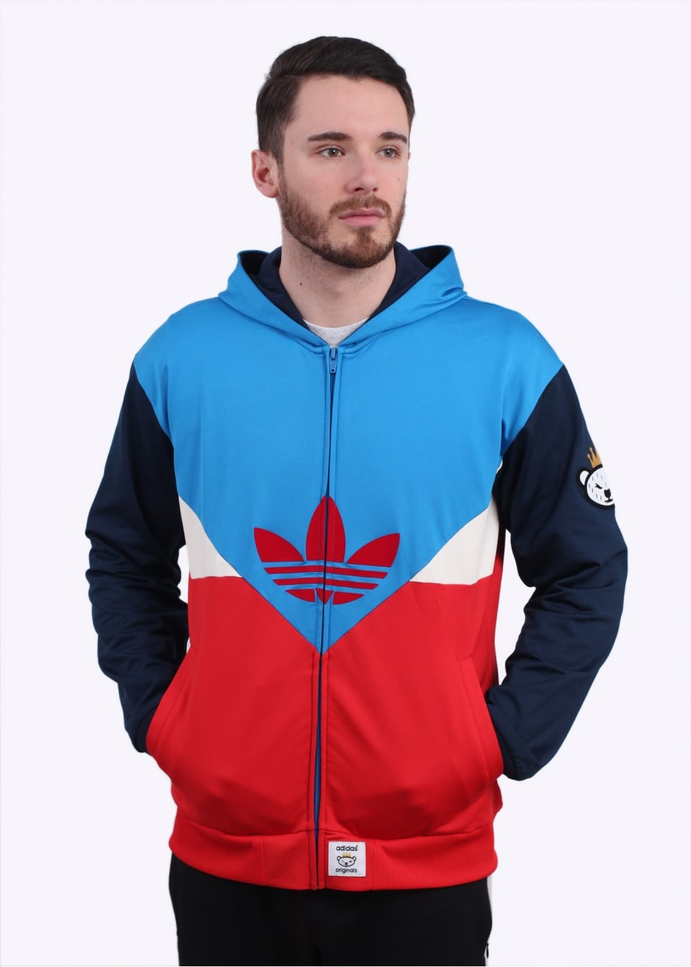 newest collection e6868 9d78d adidas Originals Apparel x Nigo Colorado FZ Hoody - Red / Blue
