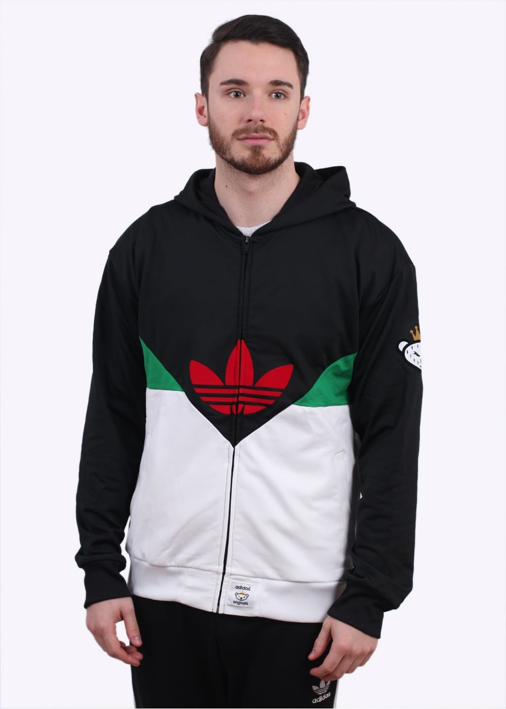 big sale dbdbe a1e5b adidas Originals Apparel x Nigo Colorado FZ Hoody - Black / Green