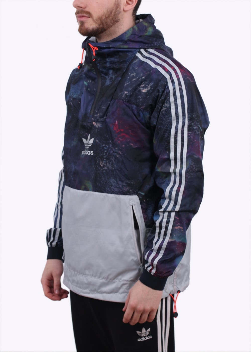 adidas Originals Apparel Cosmic AOP Run Windbreaker Blue Multi