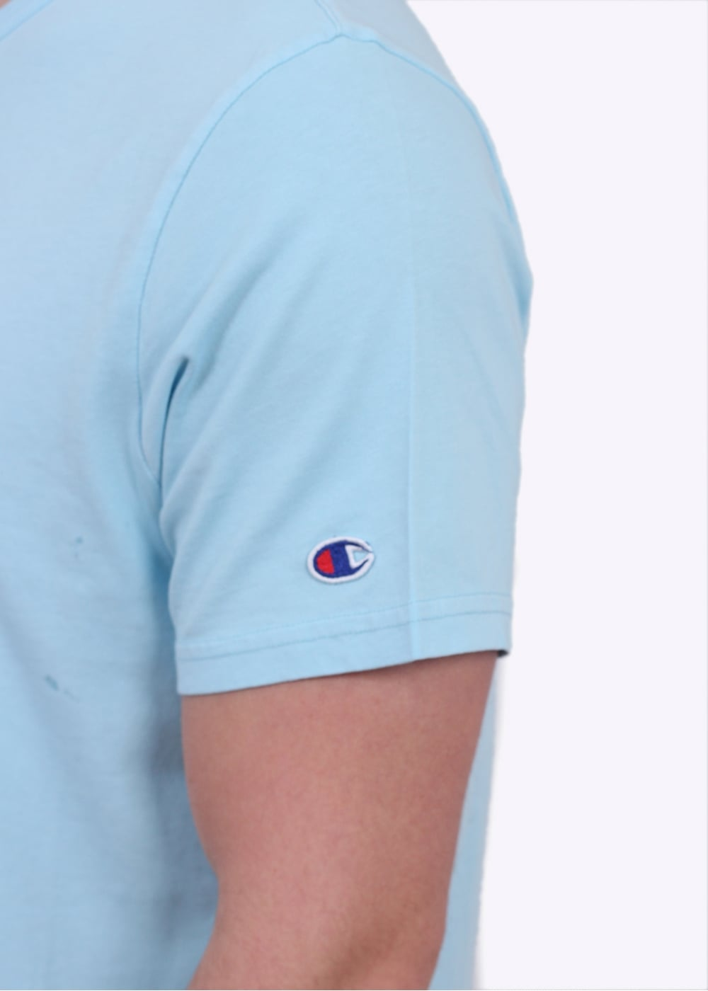 1bddc65b7d36 Champion Reverse Weave Classic SS Crew Tee - Light Blue - Triads ...