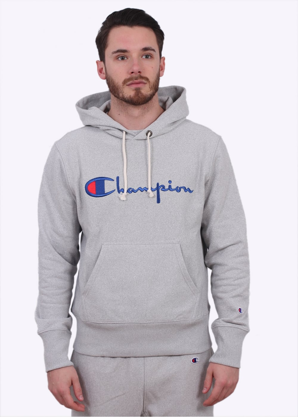 Champion Reverse Weave Hooded Sweater - Light Grey - Hoodies from ... 805471a35