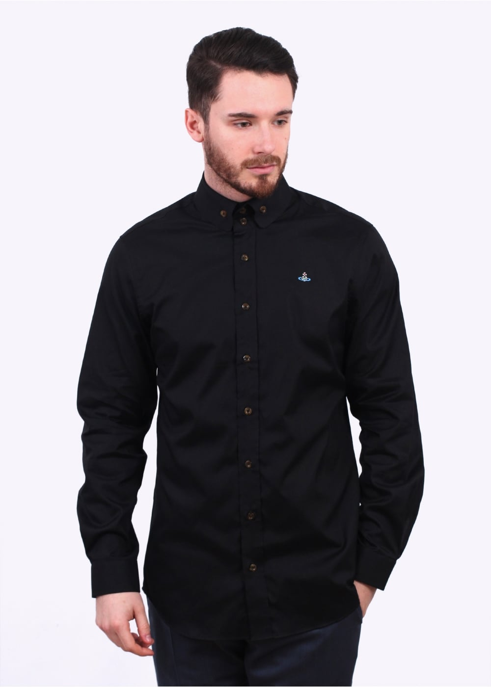 a53f8d6951bf Vivienne Westwood Mens Two Button Krall Shirt - Black - Shirts from Triads  UK