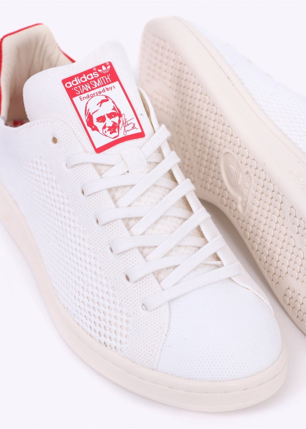 new arrivals bc413 67d0e adidas Originals Footwear Stan Smith OG Primeknit - White / Red