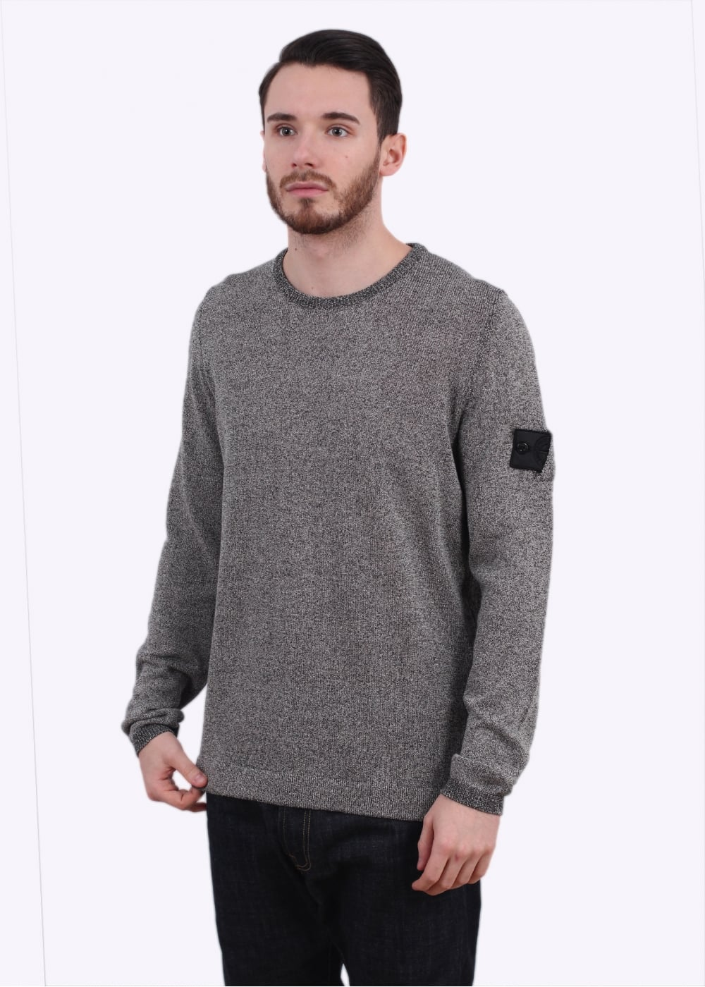 Stone Island Shadow Project Knit Sweater Black Triads Mens From