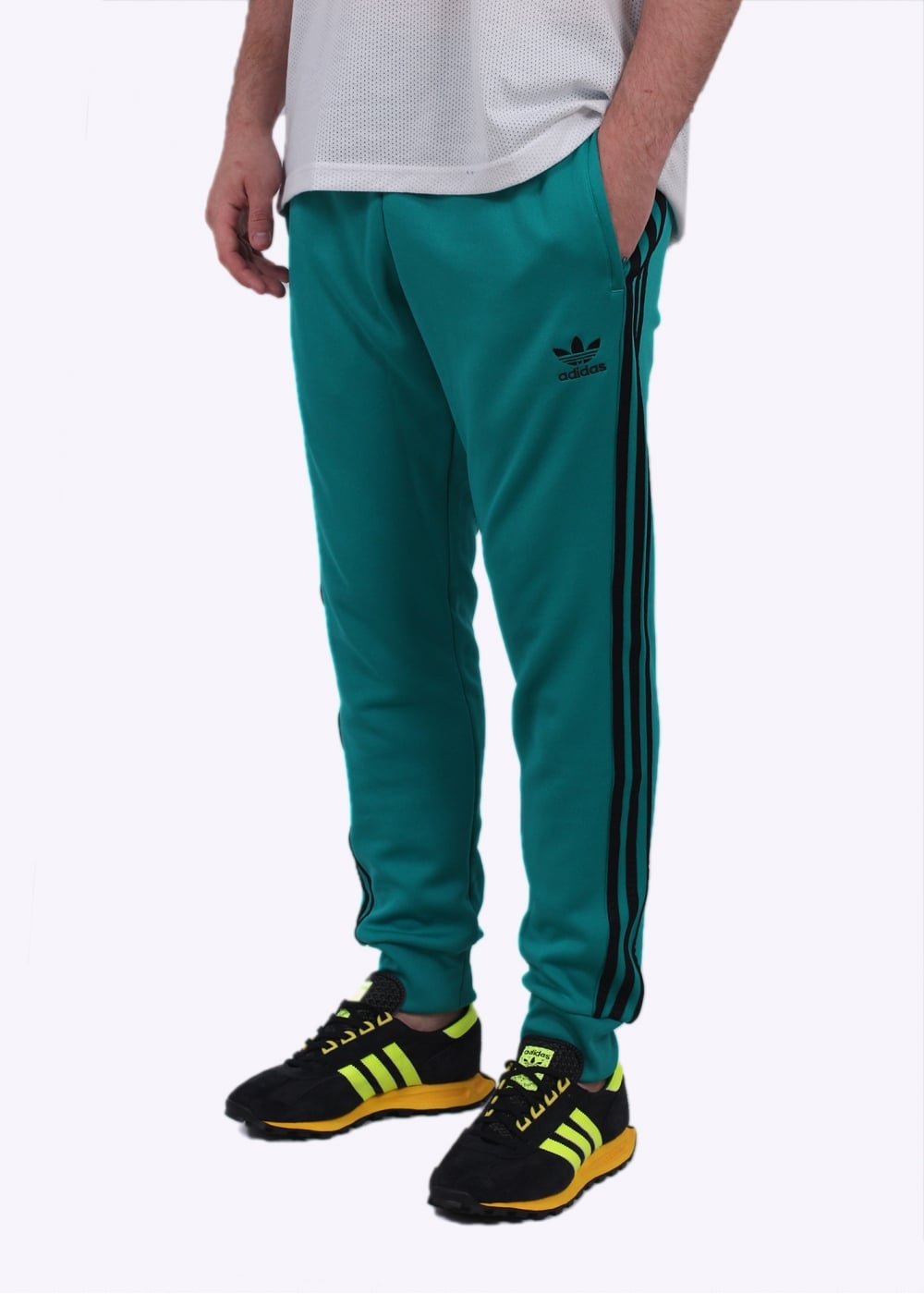 827ef3ea103a adidas Originals Apparel SST Cuffed Track Pant - Green - Jogging ...