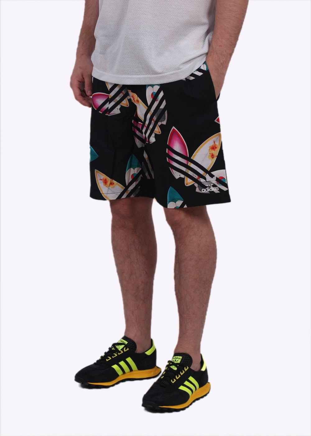 adidas Originals Apparel x Pharrell Williams Surf Shorts - Black ... db6b3d63aa