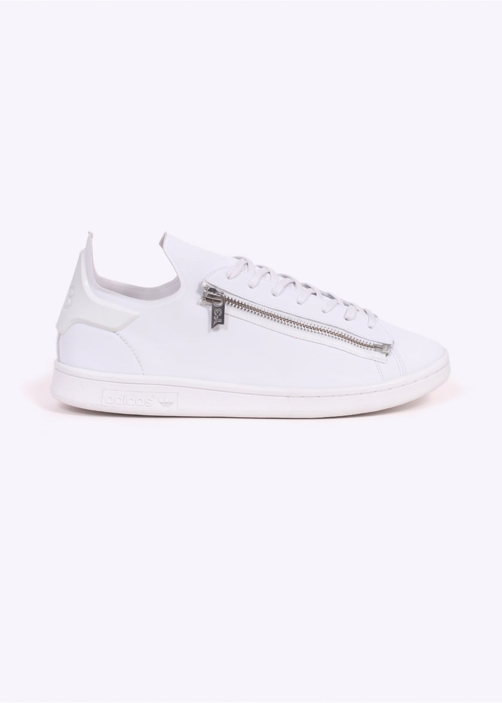 3cd149bd9 Y3   Adidas - Yohji Yamamoto Stan Smith Zip - White - Trainers from ...