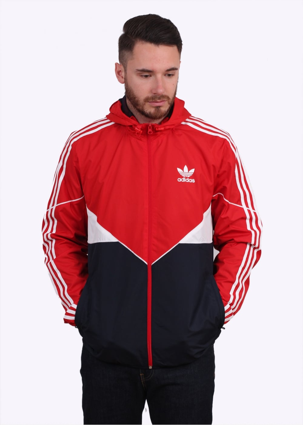 40e24d275 adidas Originals Apparel CRDO Windbreaker - Vivid Red - Triads Mens ...