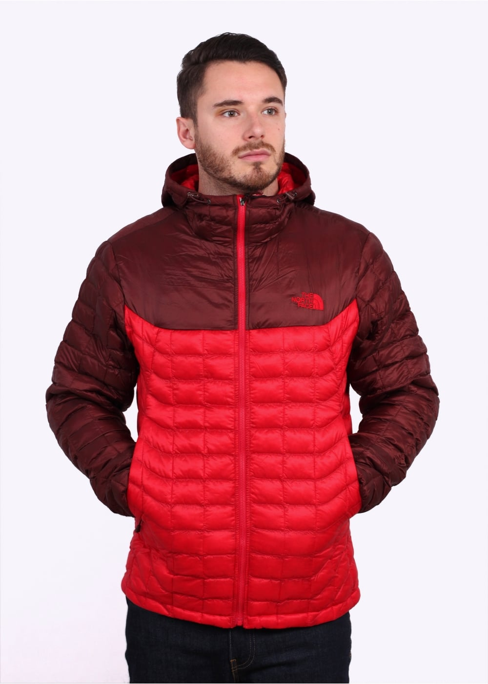 0d555acad The North Face Thermoball Hooded Jacket - Red