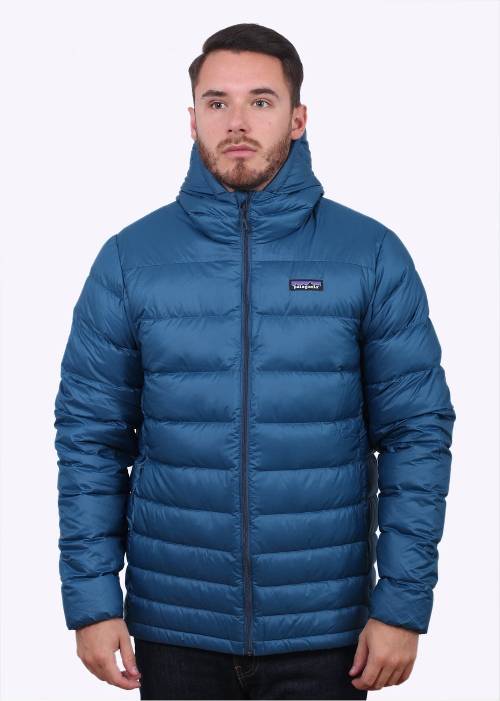 Patagonia Hi Loft Down Hoody Glass Blue Jackets From