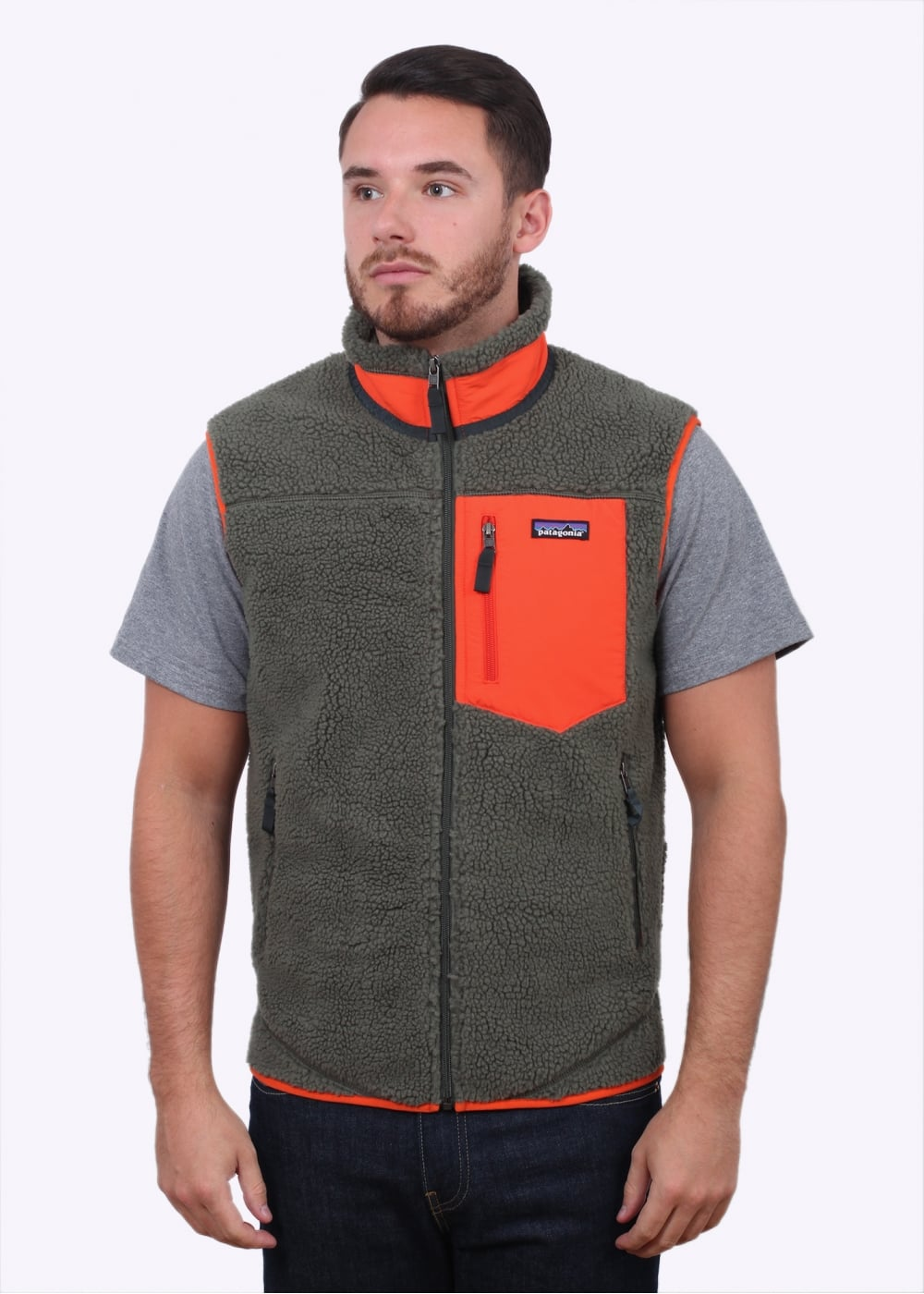 patagonia classic retro x vest industrial green gilets from