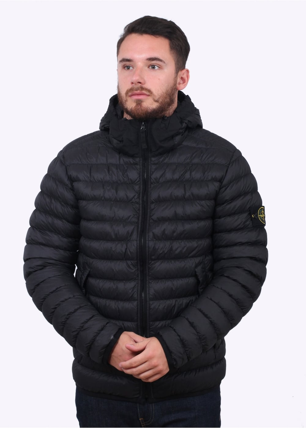 stone island micro yarn down jacket black jackets from triads uk. Black Bedroom Furniture Sets. Home Design Ideas