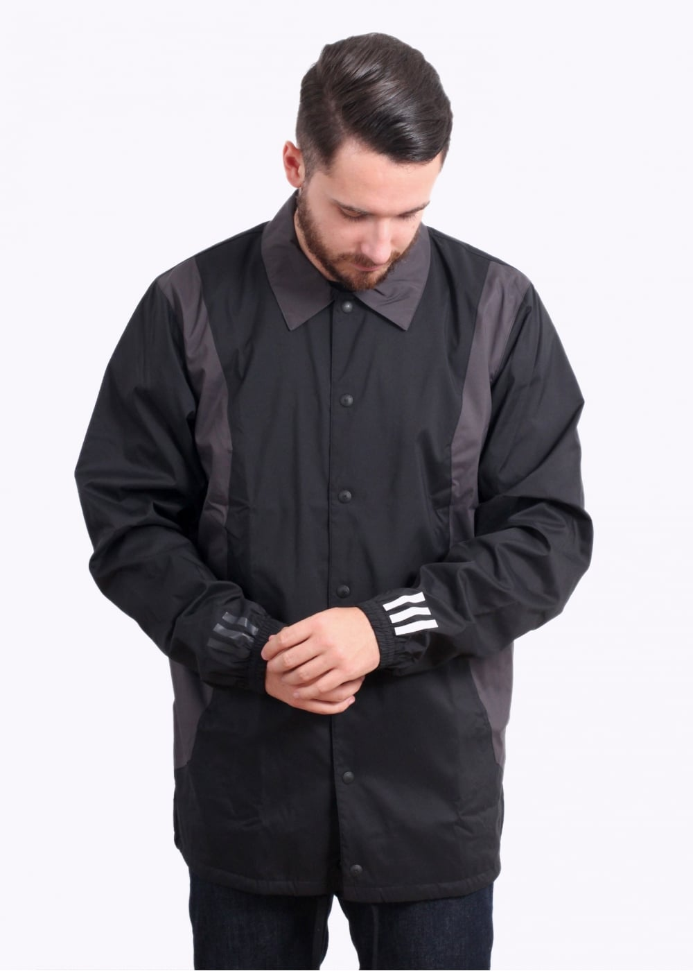 4e495647f604 adidas Originals Apparel x White Mountaineering Bench Jacket - Black ...