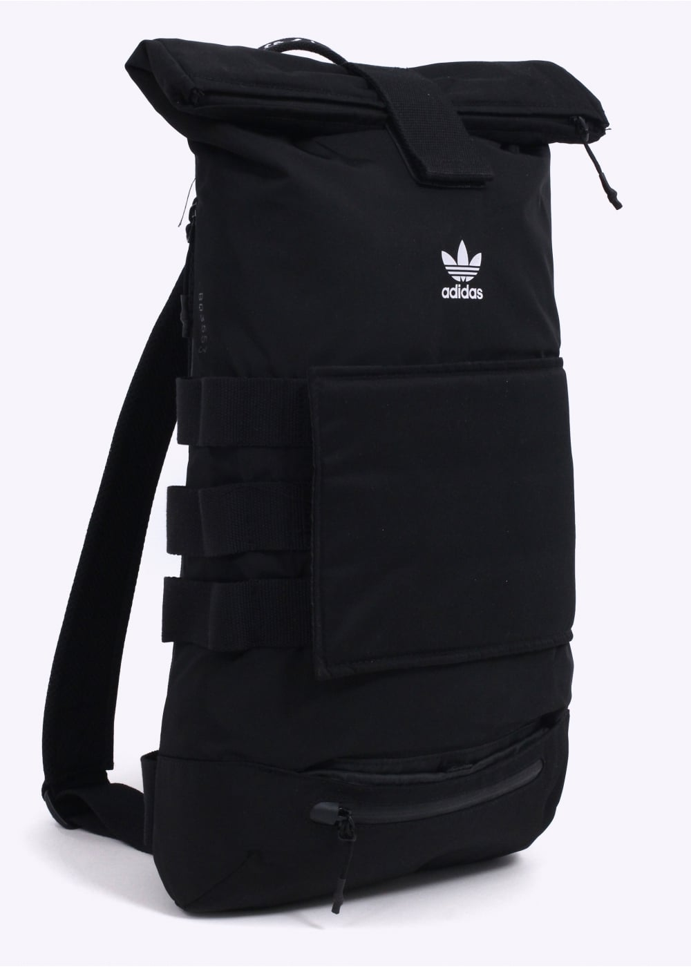 adidas Originals Apparel Rollup Backpack - Black - Bags from Triads UK 04363d0348d08