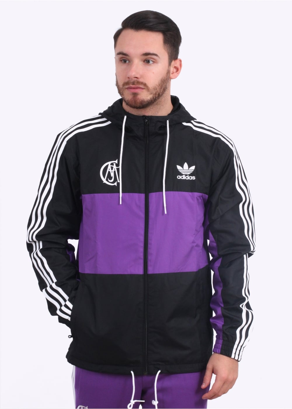 f35c1a41b adidas Originals Apparel Real Madrid Windbreaker - Black   Purple ...