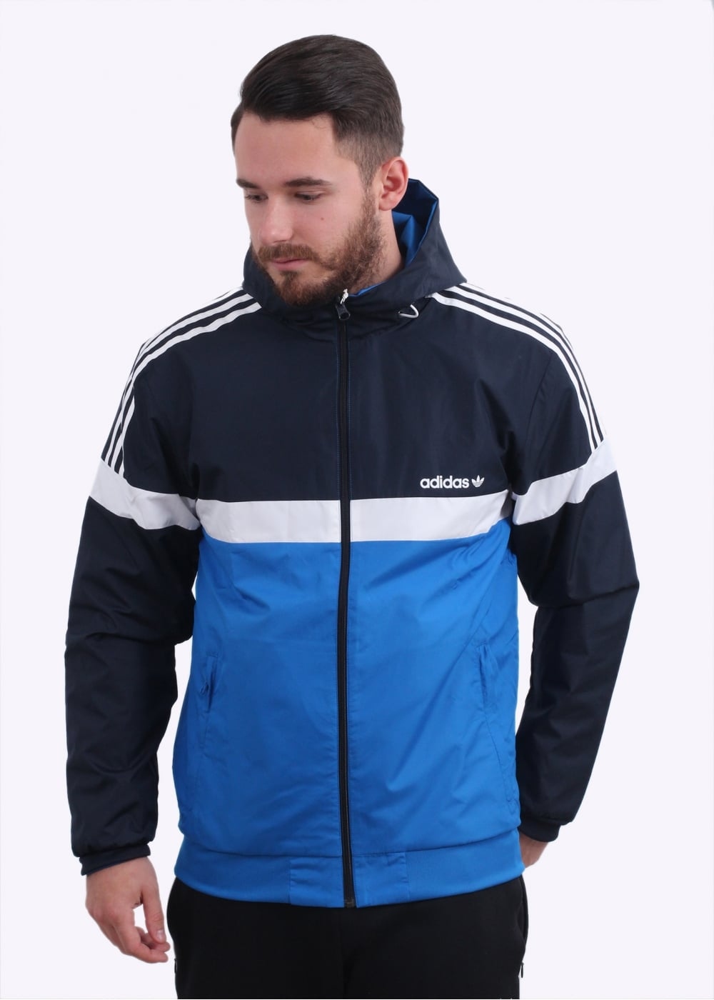 9bdf1024c4ae adidas Originals Apparel Reversible Windbreaker Jacket - Legend Ink ...
