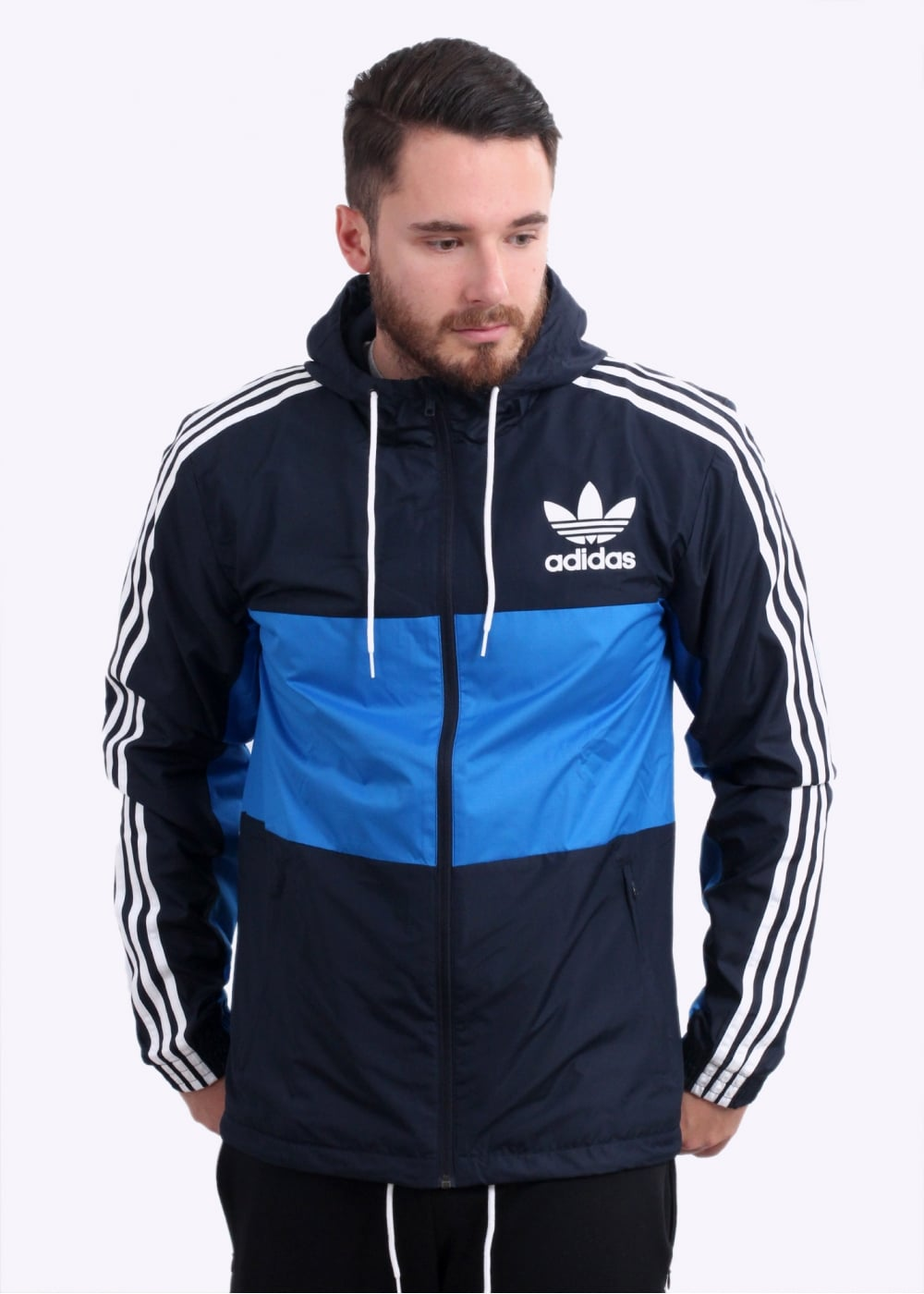 adidas Originals Apparel CLFN WB Jacket - Legend Ink - Jackets from ... 61a1076b5b