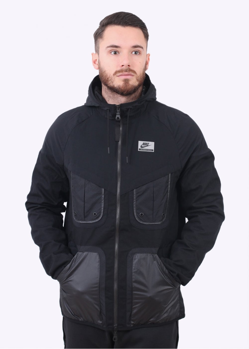 Nike Apparel International Windrunner Jacket - Black - Jackets from ... 9eda946721