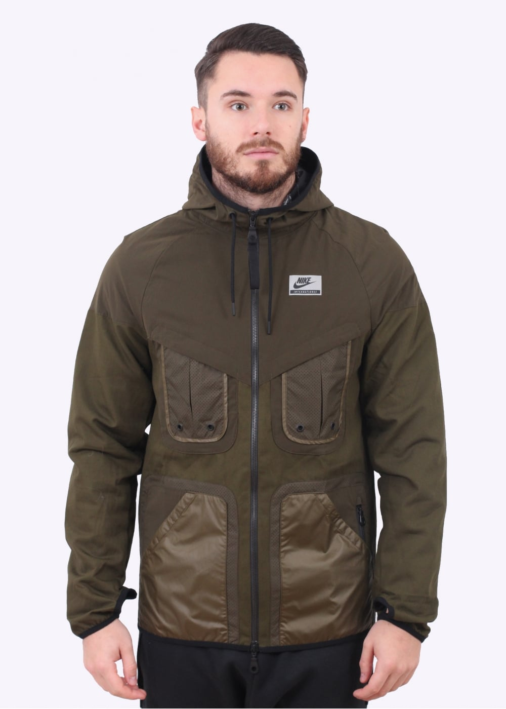 Nike Apparel International Windrunner Jacket - Dark Olive - Jackets ... 416e987698