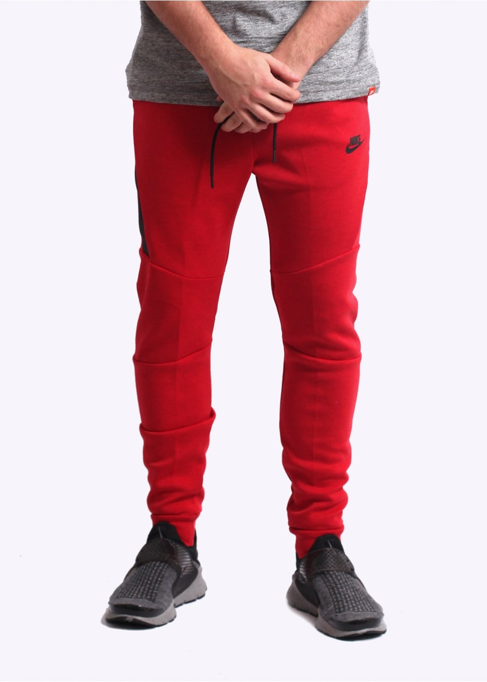 ac76fbff Nike Apparel Tech Fleece Jogger - University Red - Jogging Pants ...