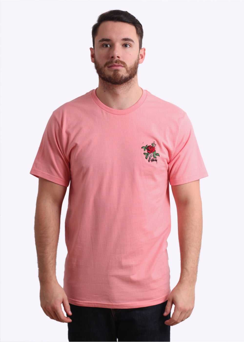 Stussy Rose Tee - Rose - T-shirts from Triads UK