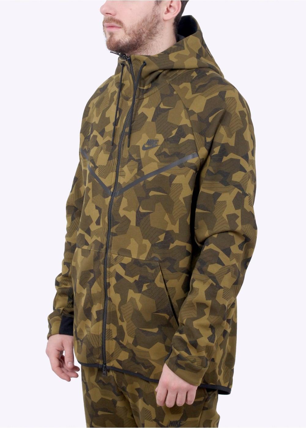 Nike Apparel Tech Fleece Windrunner Hoodie - Olive Flak - Hoodies ... 155fef42a