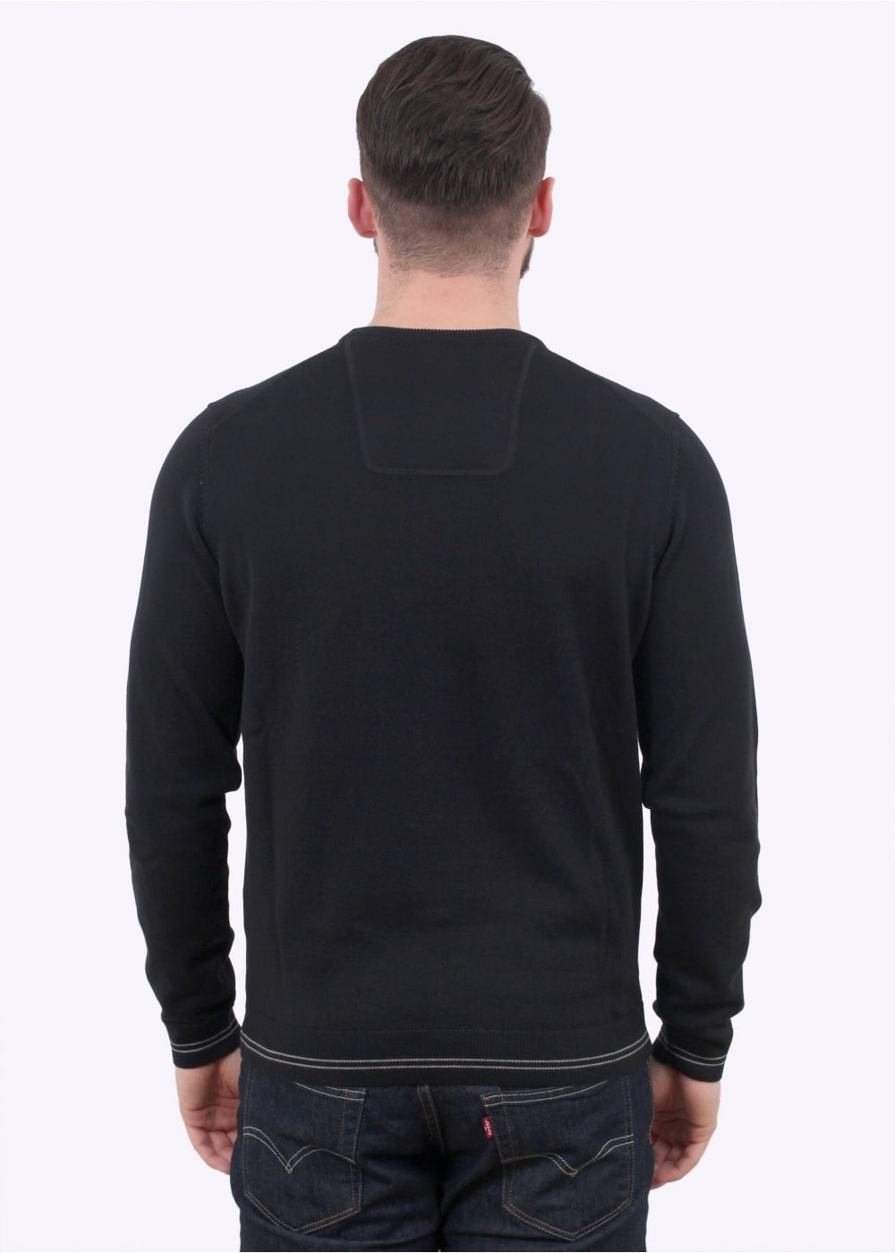 90a50441a BOSS Rime S17 Sweater - Black - Jumpers from Triads UK