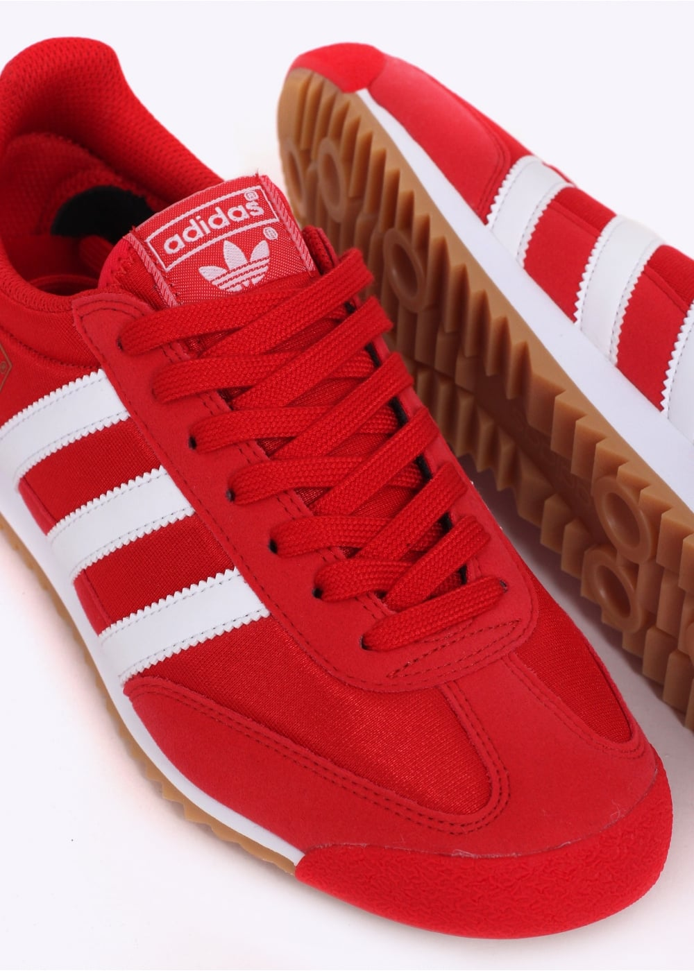 red adidas dragons