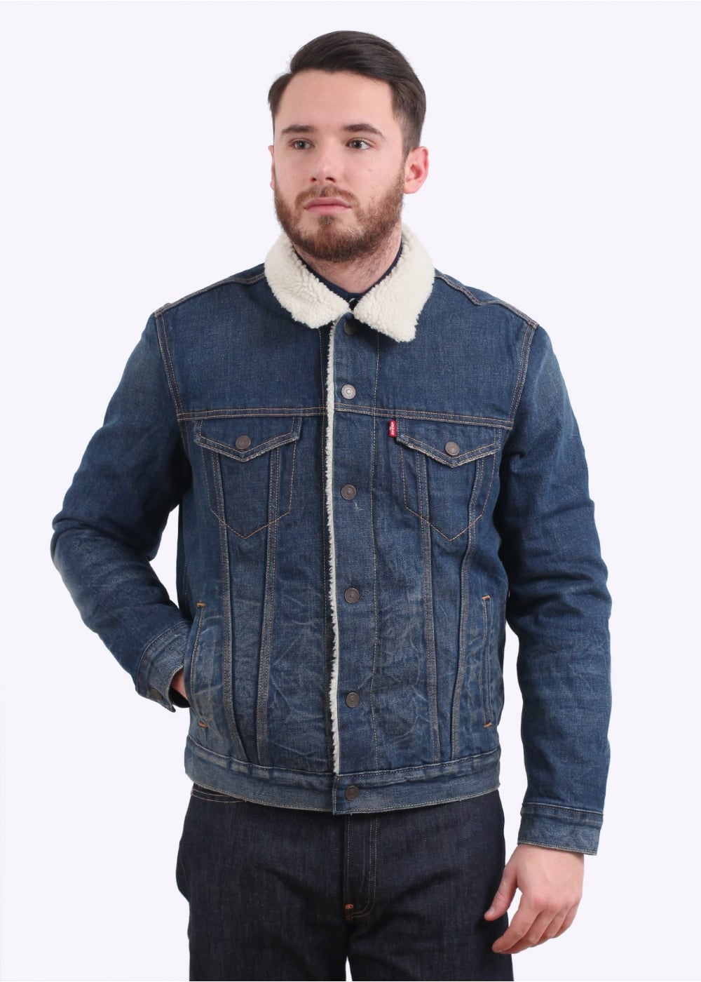 Levi s Red Tab Type 3 Sherpa Trucker - Indigo - Jackets from Triads UK 255c5608e6e9