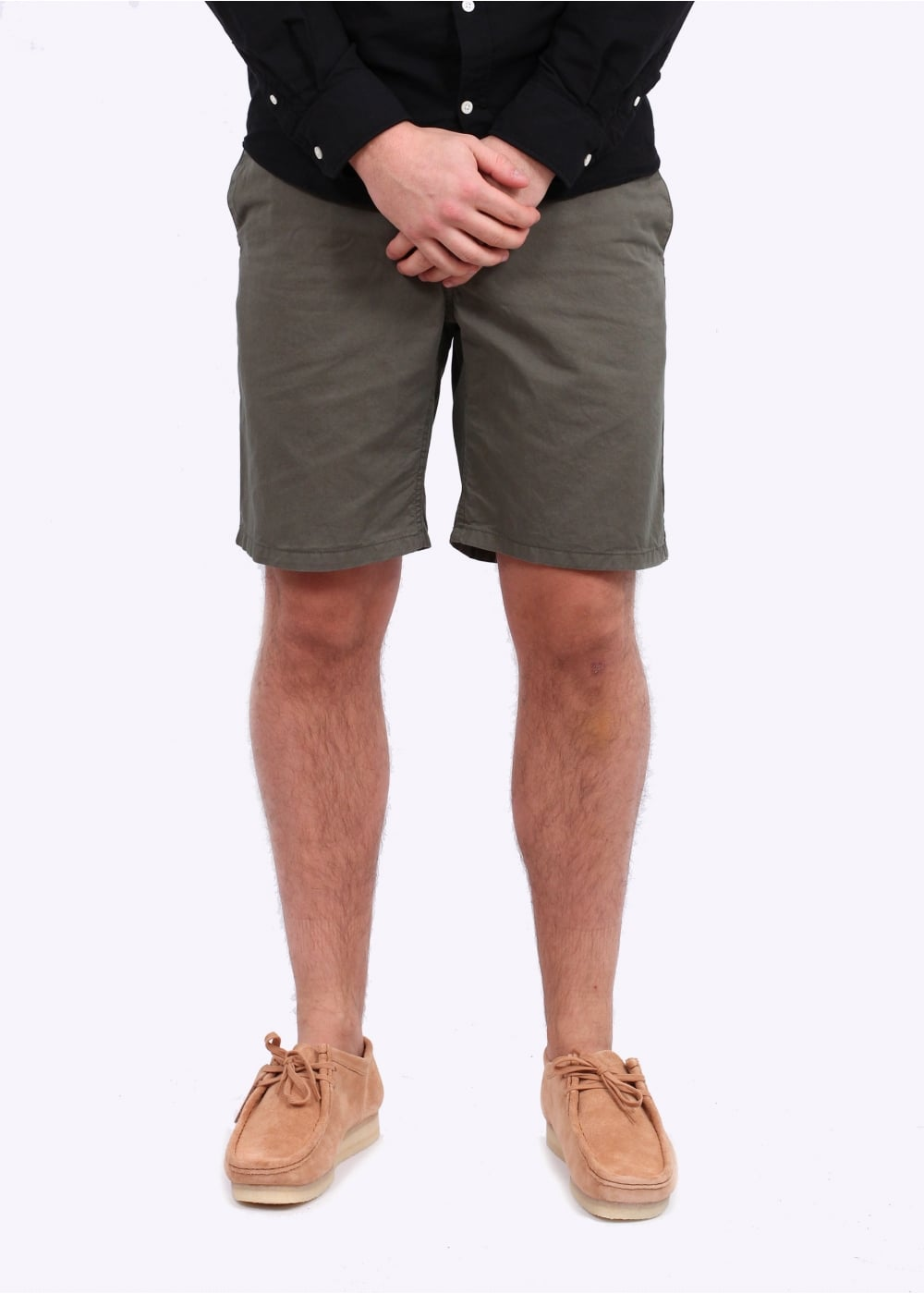 Norse Projects Aros Light Twill Shorts - Dried Olive - Triads Mens ... af521d06c