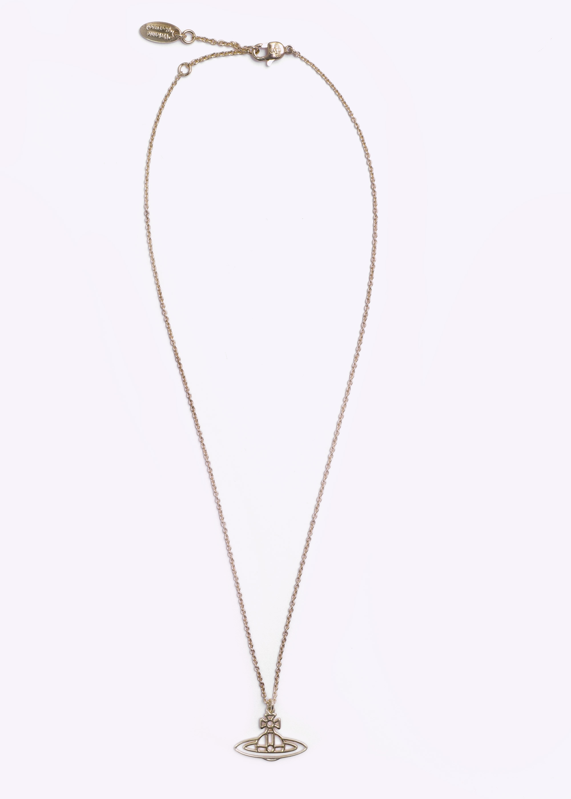 76d94eee26a9ee Vivienne Westwood Accessories Thin Lines Flat Orb Pendant - Gold ...