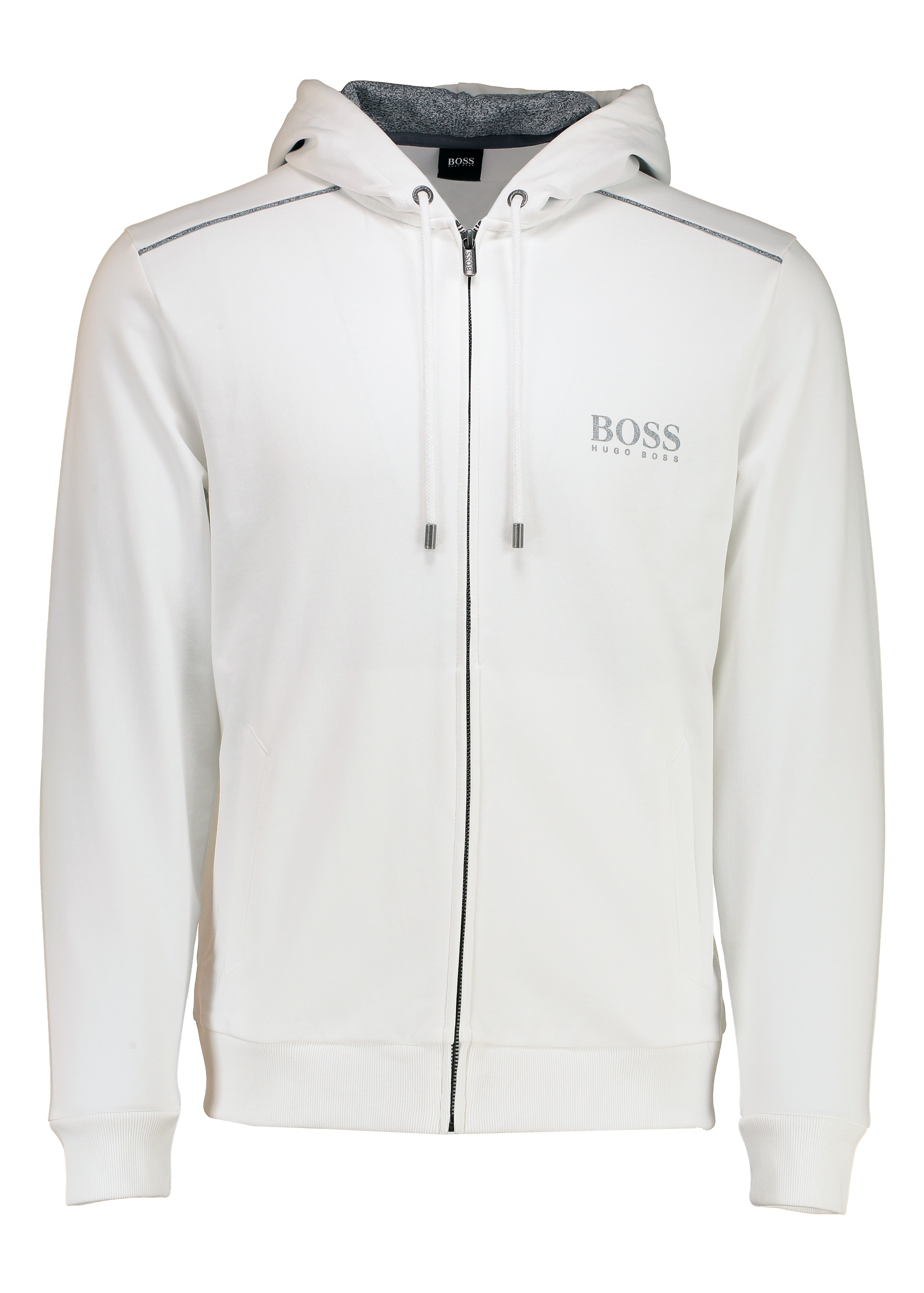daf42946 BOSS Hooded Jacket - White - Hoodies from Triads UK