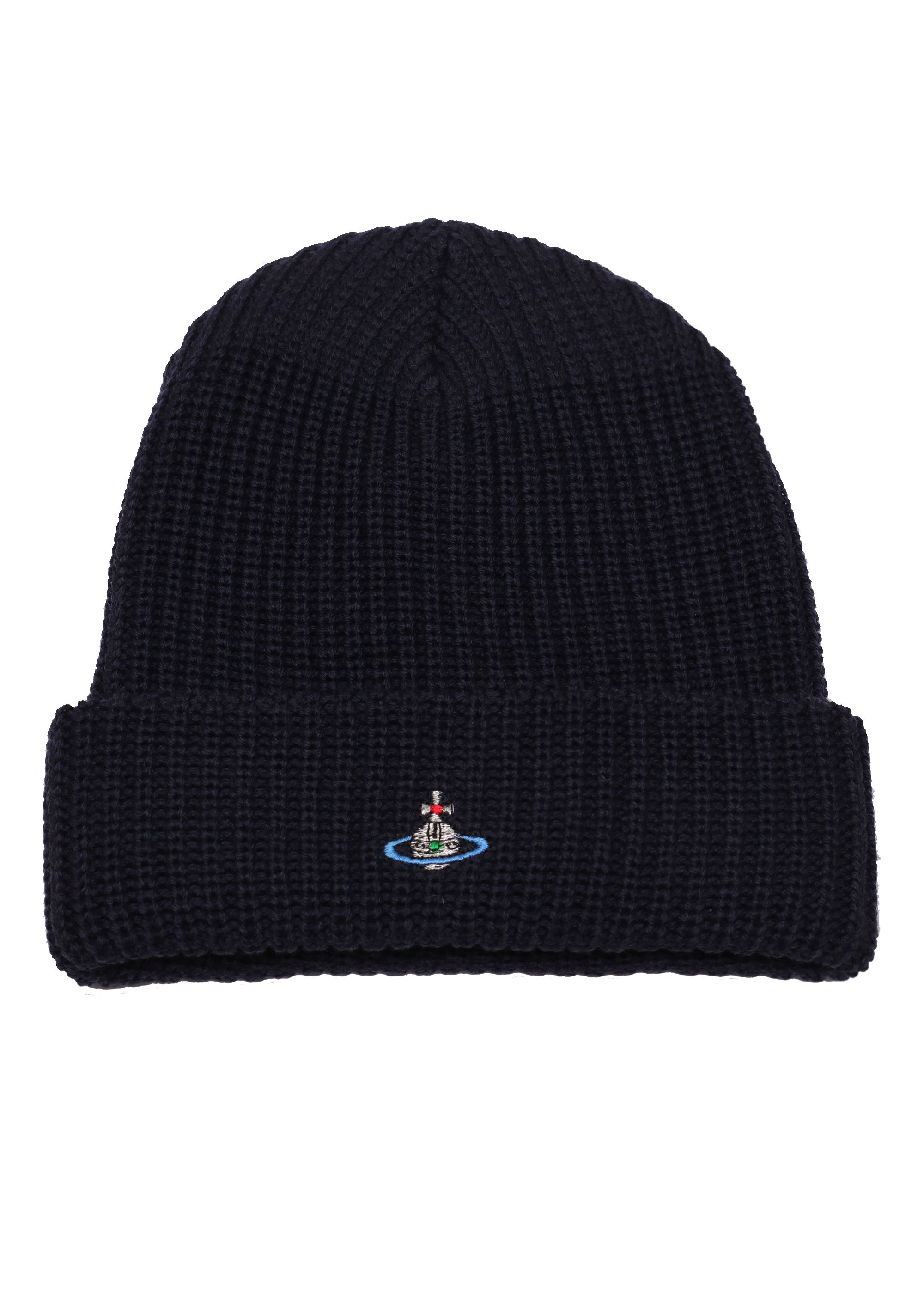 Vivienne Westwood Mens Beanie Hat - Navy - Triads Mens from Triads UK d21345af902