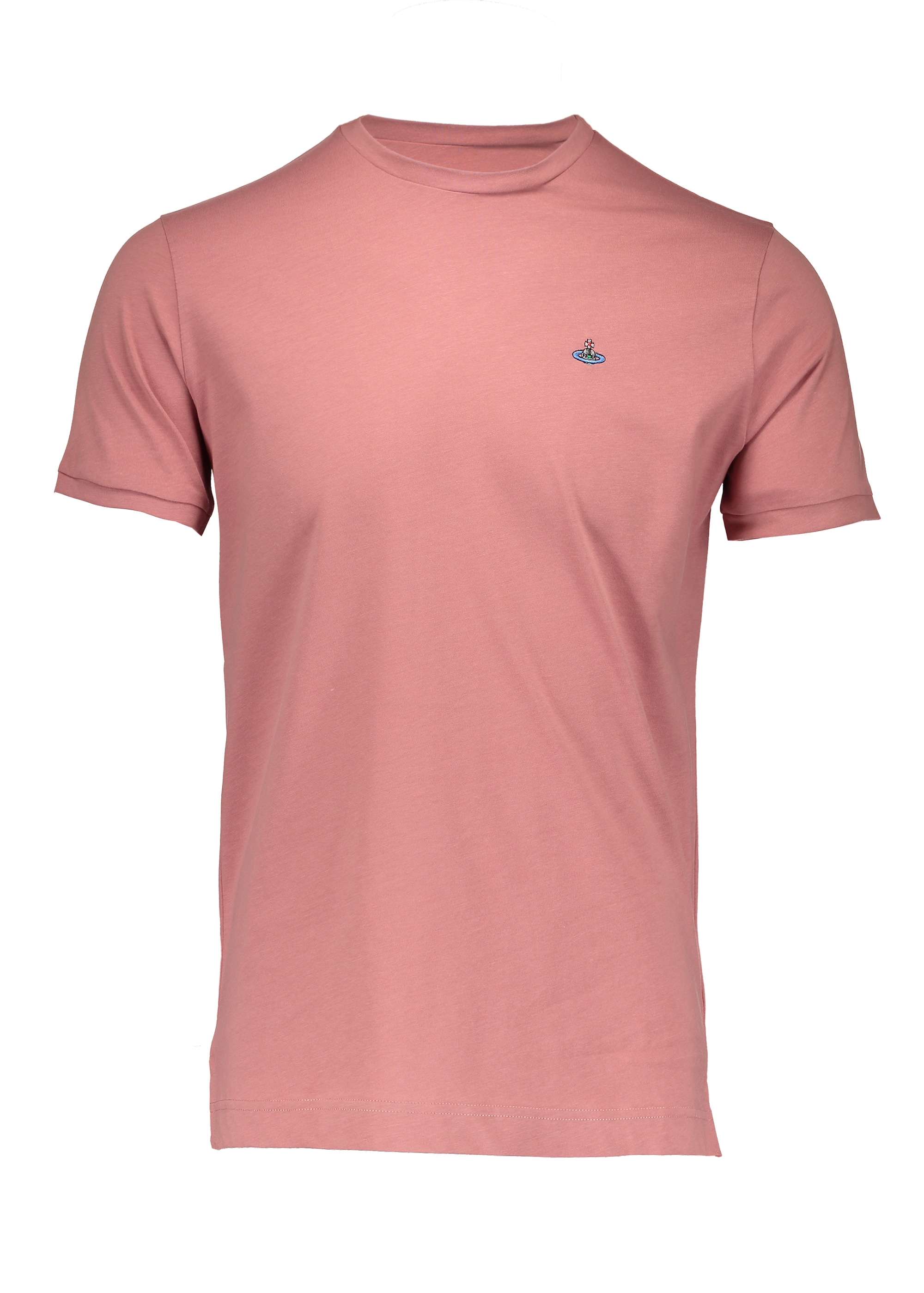 clearance prices skate shoes 100% high quality Vivienne Westwood Mens Embroidered Logo T-Shirt - Pink
