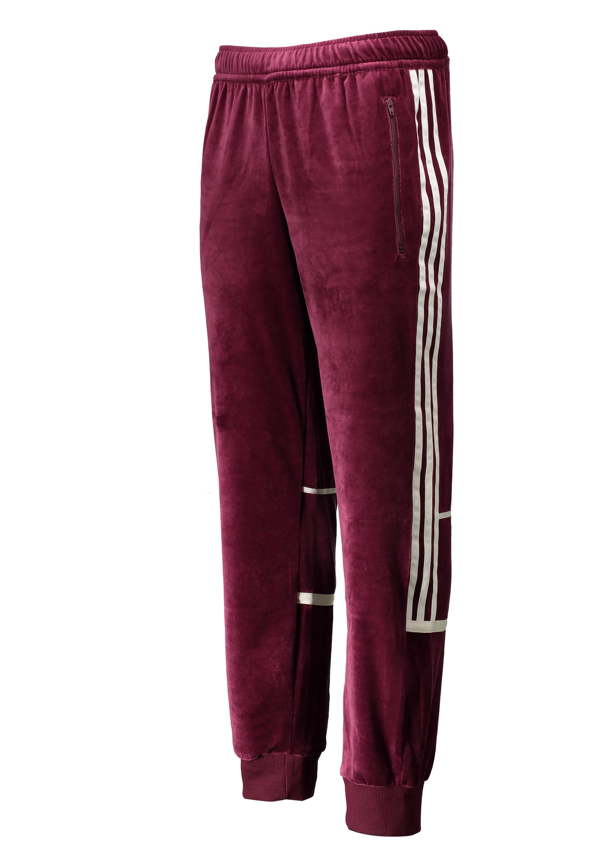 adidas Originals Apparel Challenger Velour Track Pant Maroon