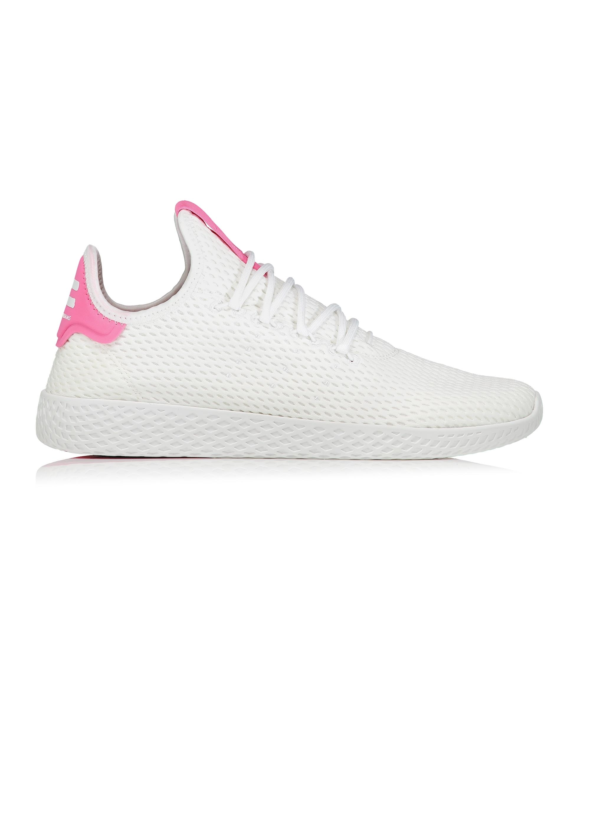 64330db5b9cc1 adidas Originals Footwear Pharrell Williams Tennis Hu White   Pink ...