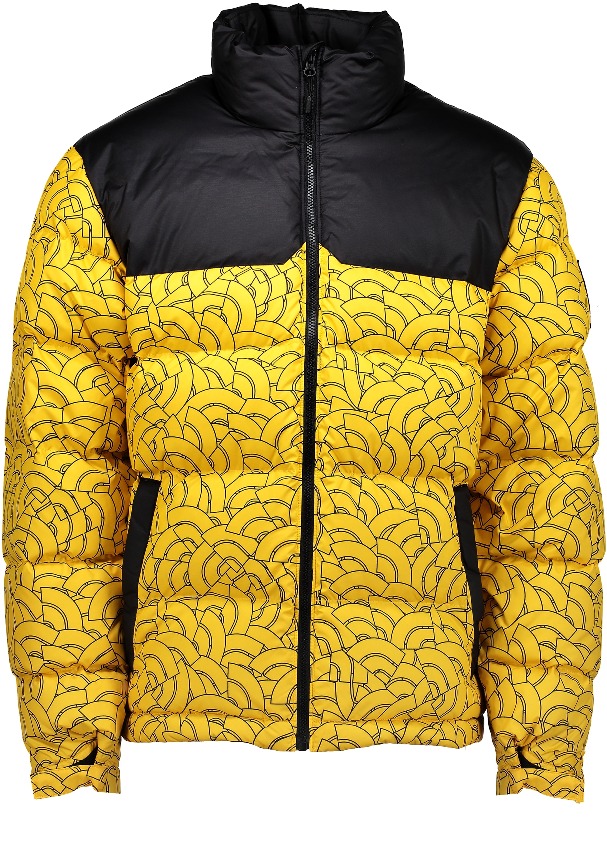 north face puffer coat yellow