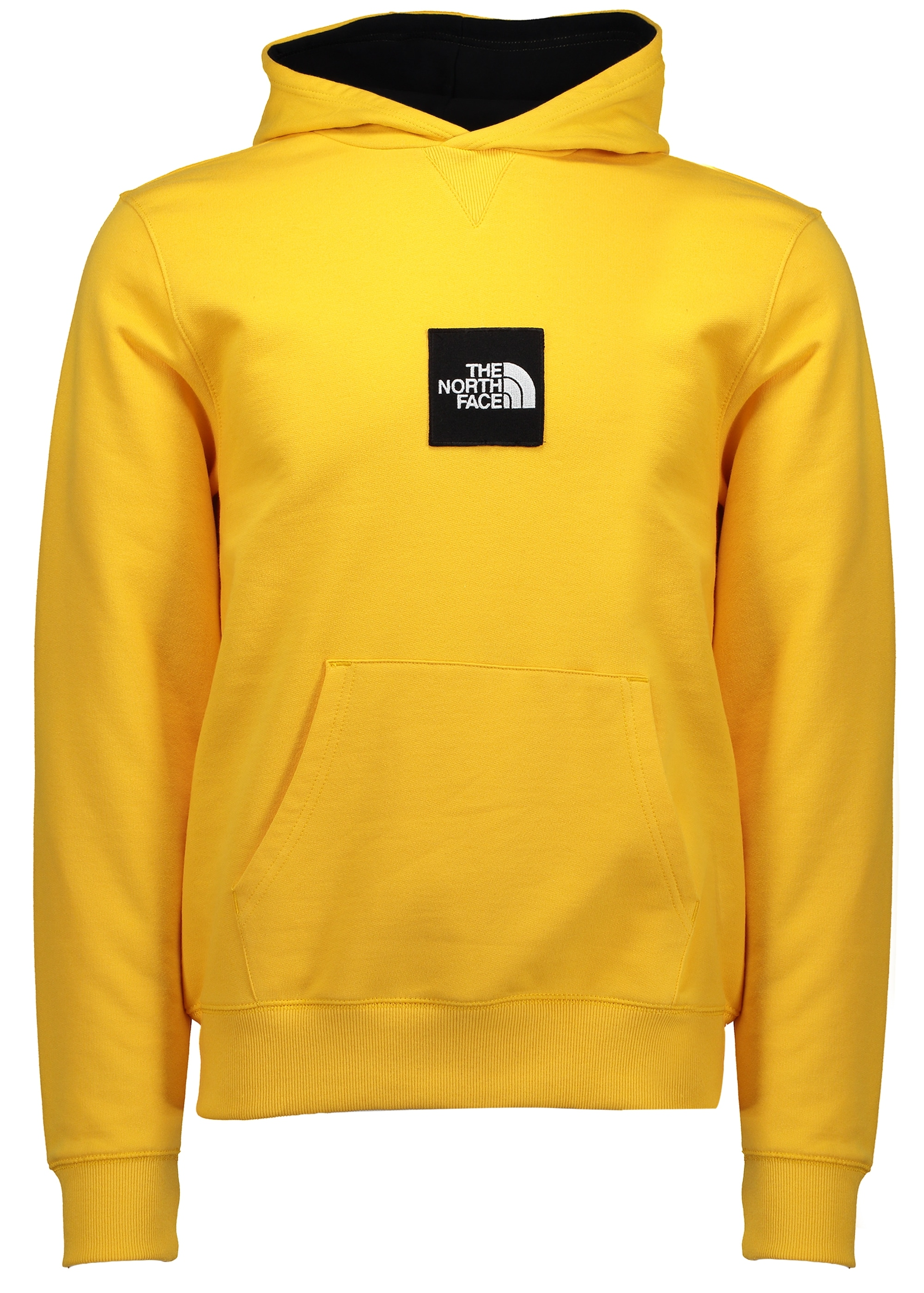 Yellow north face hoodie