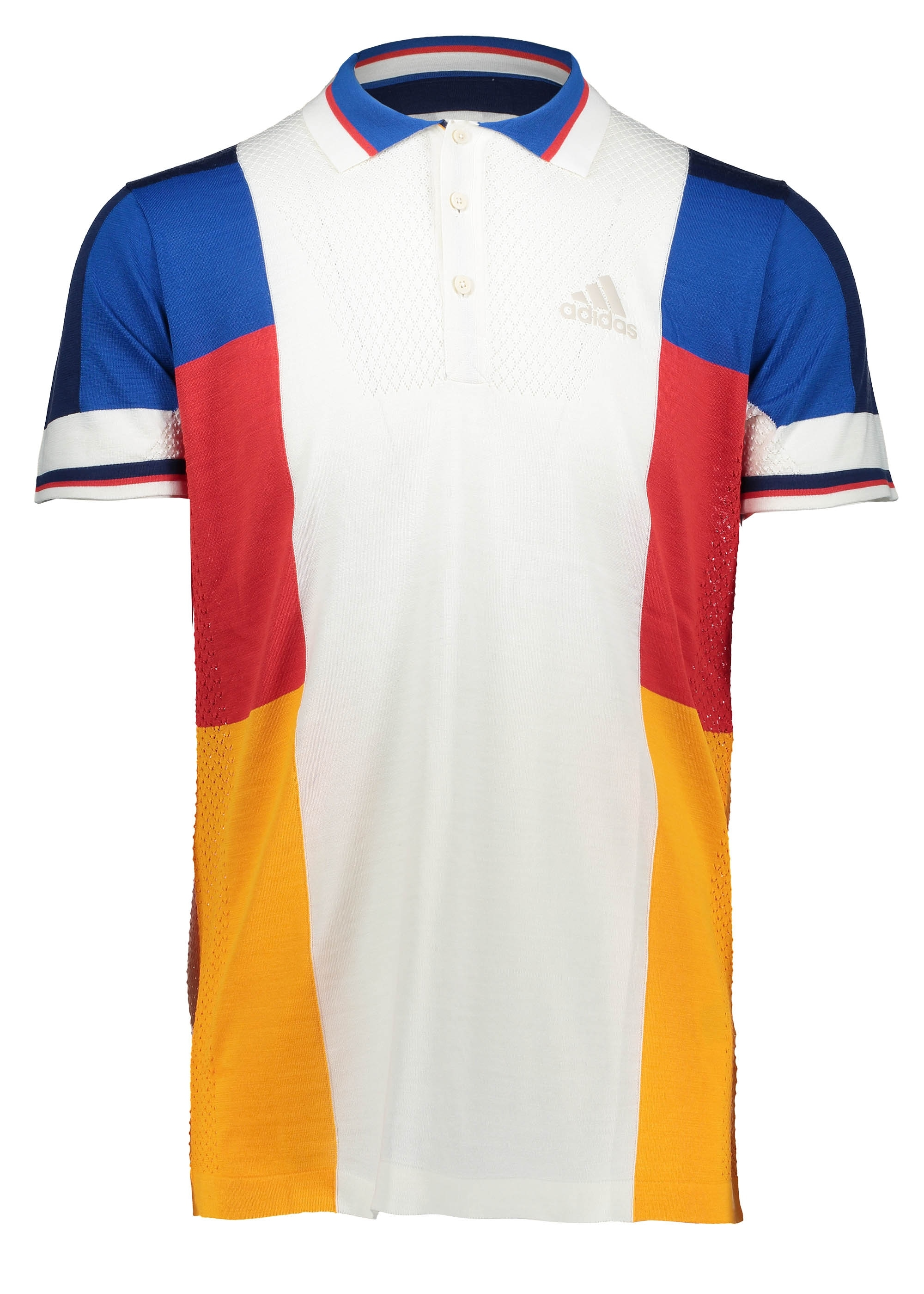 fast delivery speical offer look for adidas Originals Apparel x Pharrell Williams CB Polo Shirt - White / Blue/  Gold