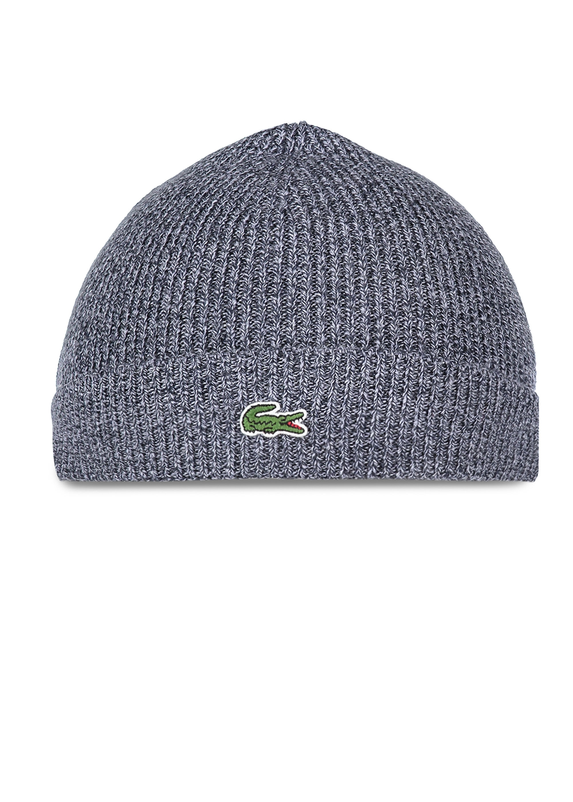 Lacoste Beanie Hat Mouline - Navy Blue - Headwear from Triads UK 6a74d1bede7