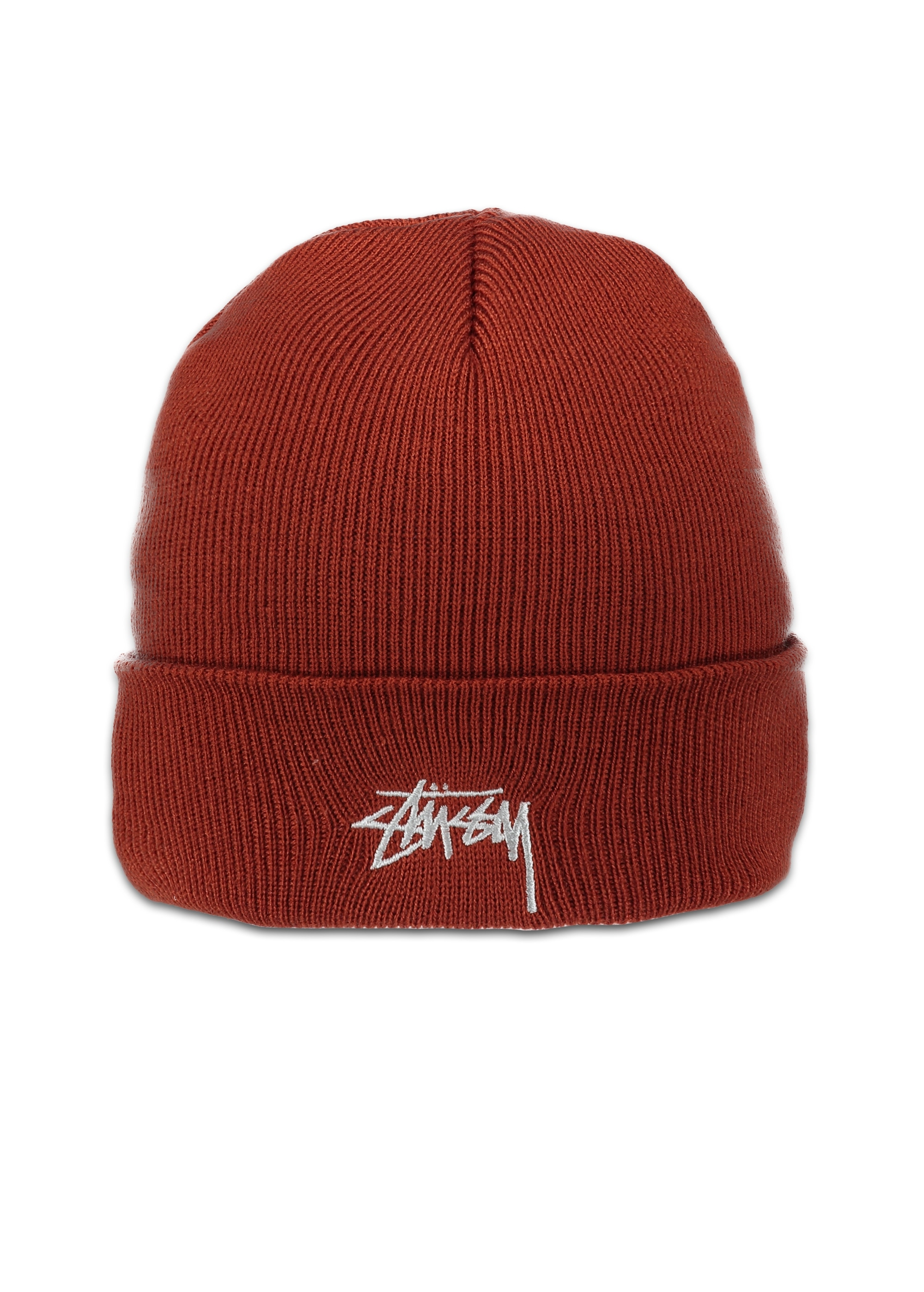 Stussy Stock FA17 Cuff Beanie - Rust - Headwear from Triads UK e889b03b4c3