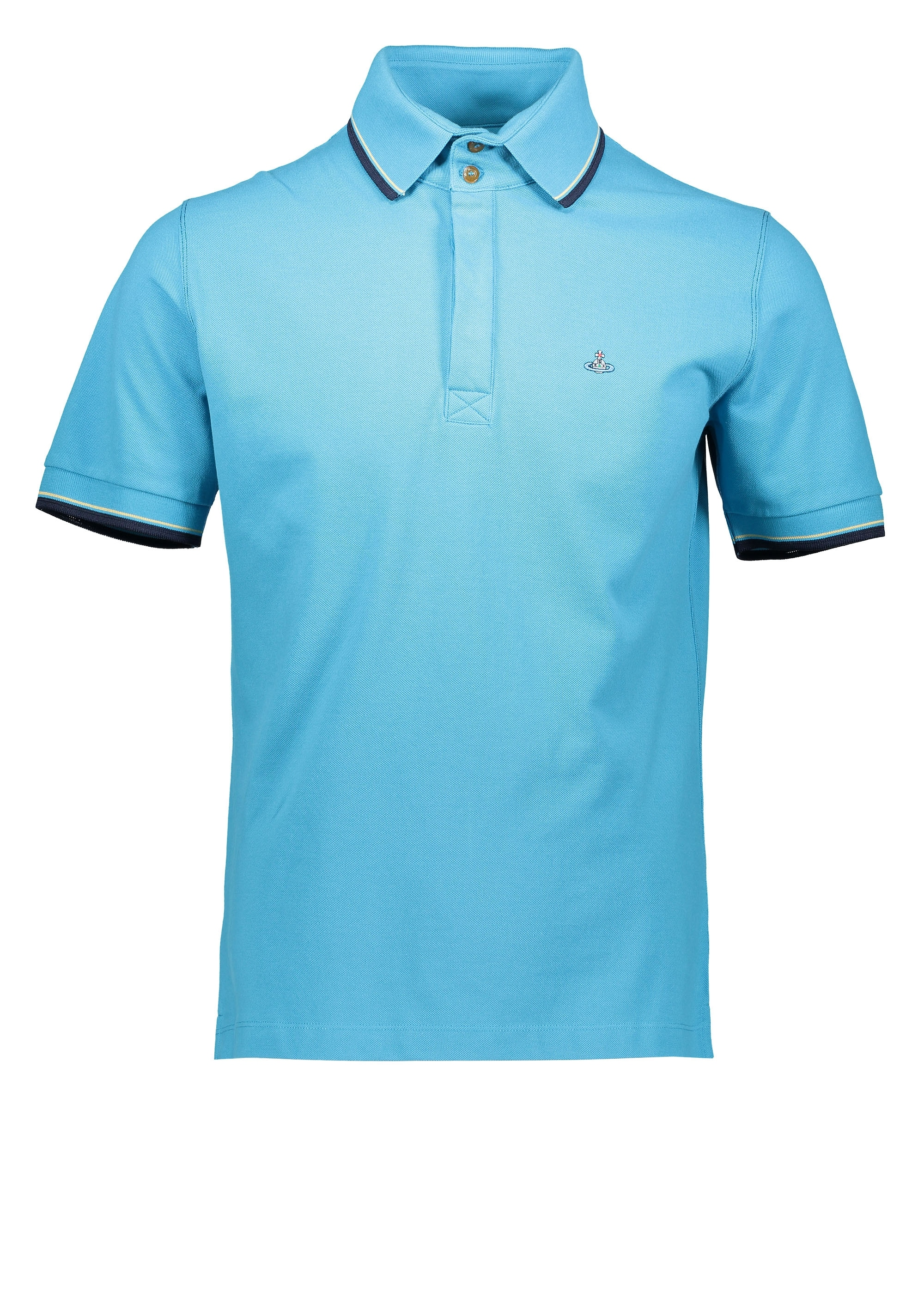 79676a7eeb9c8 Vivienne Westwood Mens Overlock Polo - Turquoise - Triads Mens from ...