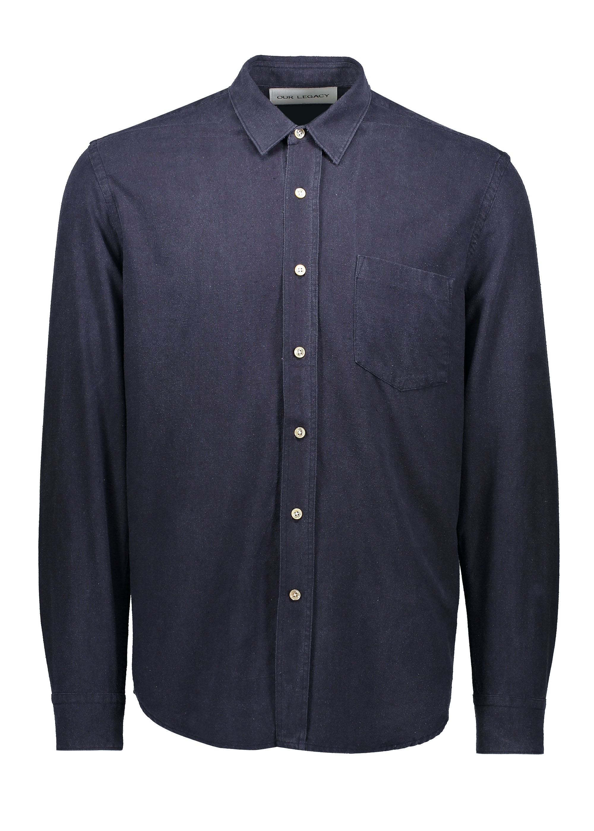 0a0a8564576c08 Our Legacy Classic Shirt - Navy Silk - Triads Mens from Triads UK