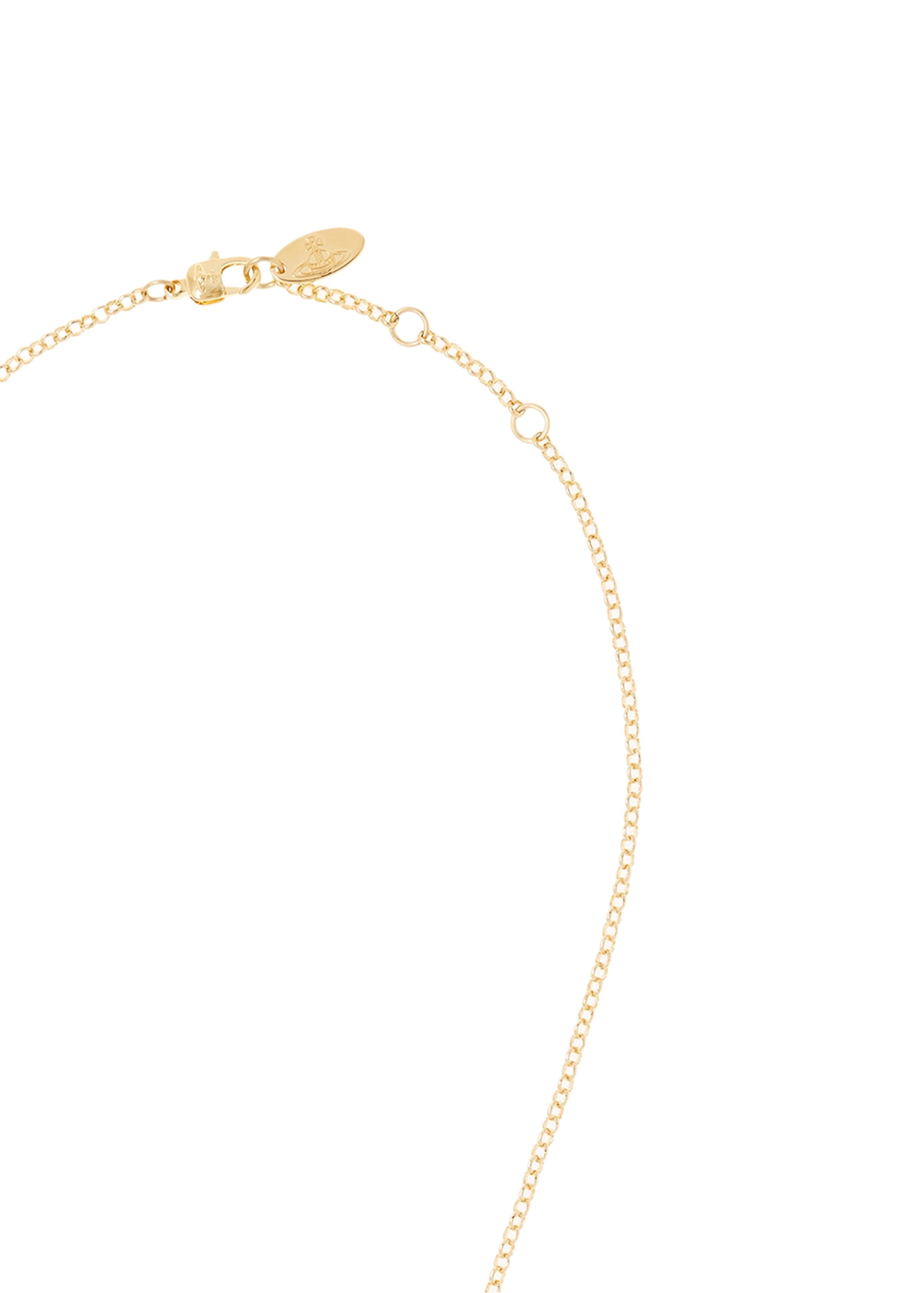 ade3ae3eb033 Vivienne Westwood Accessories Mini Bas Relief Pendant - Gold ...
