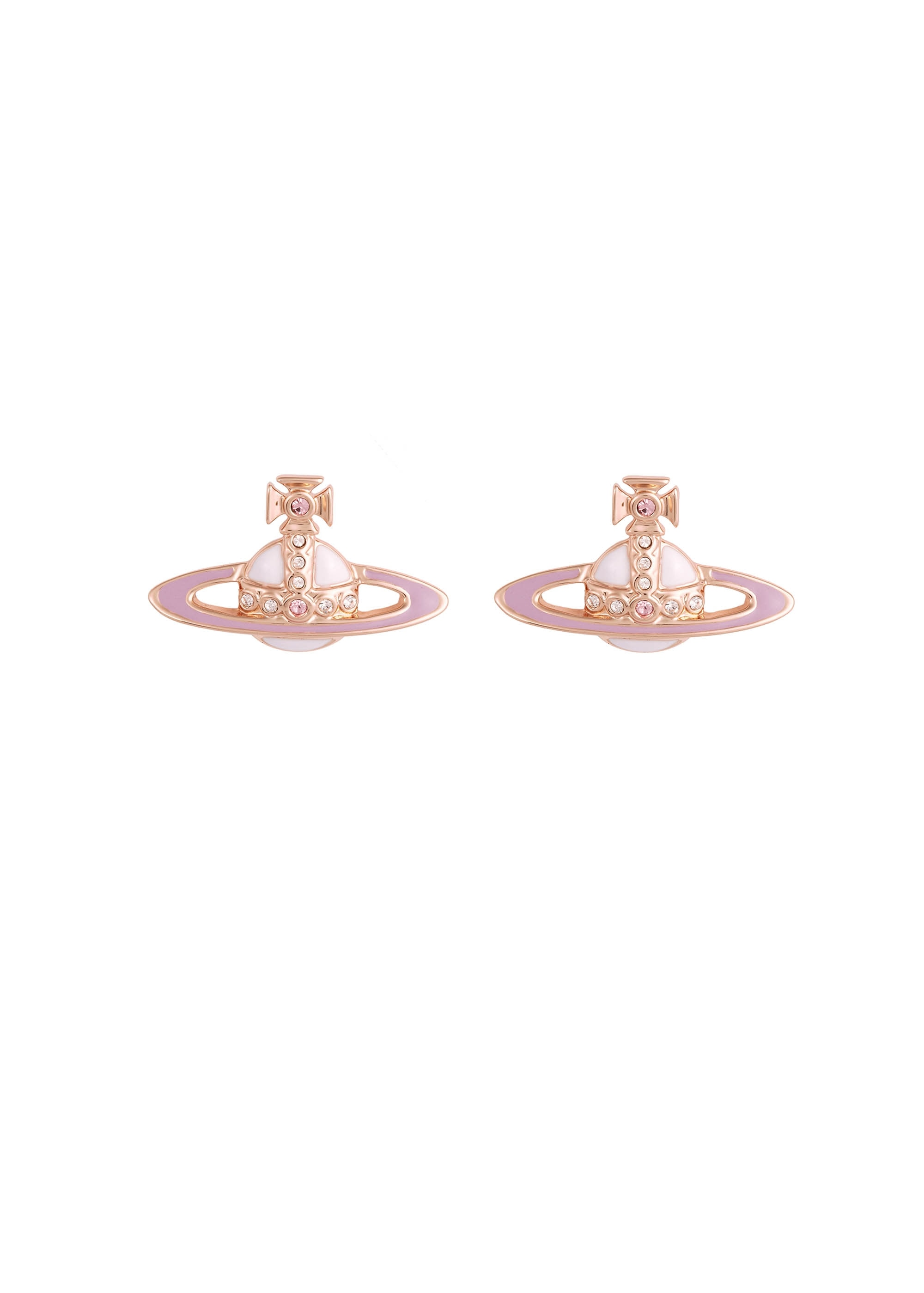 707aed9b6dd Vivienne Westwood Accessories Small Neo Bas Relief Earrings - Pink ...