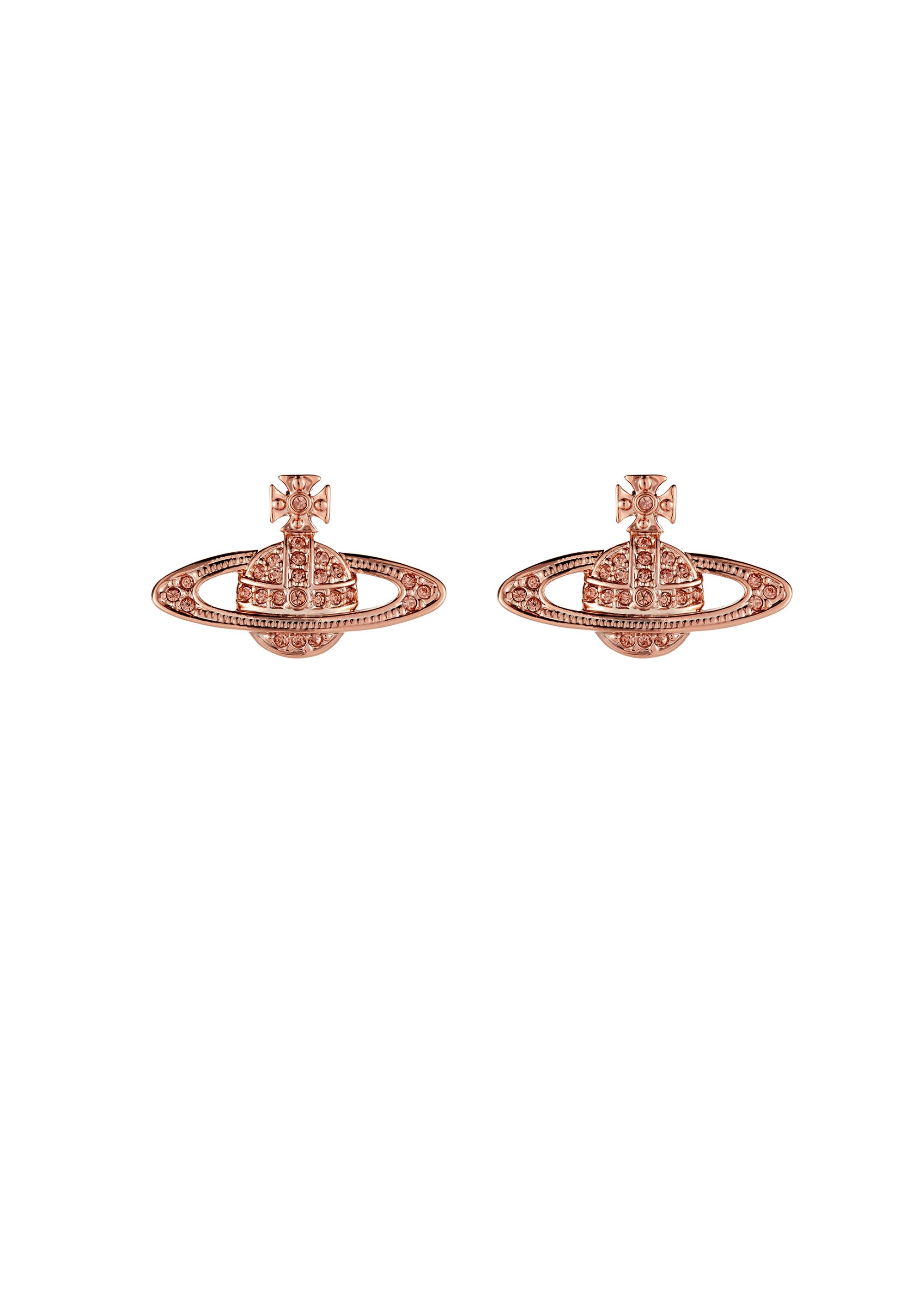 3c7fdc90d97 Vivienne Westwood Accessories Mini Bas Relief Earrings - Pink Gold ...