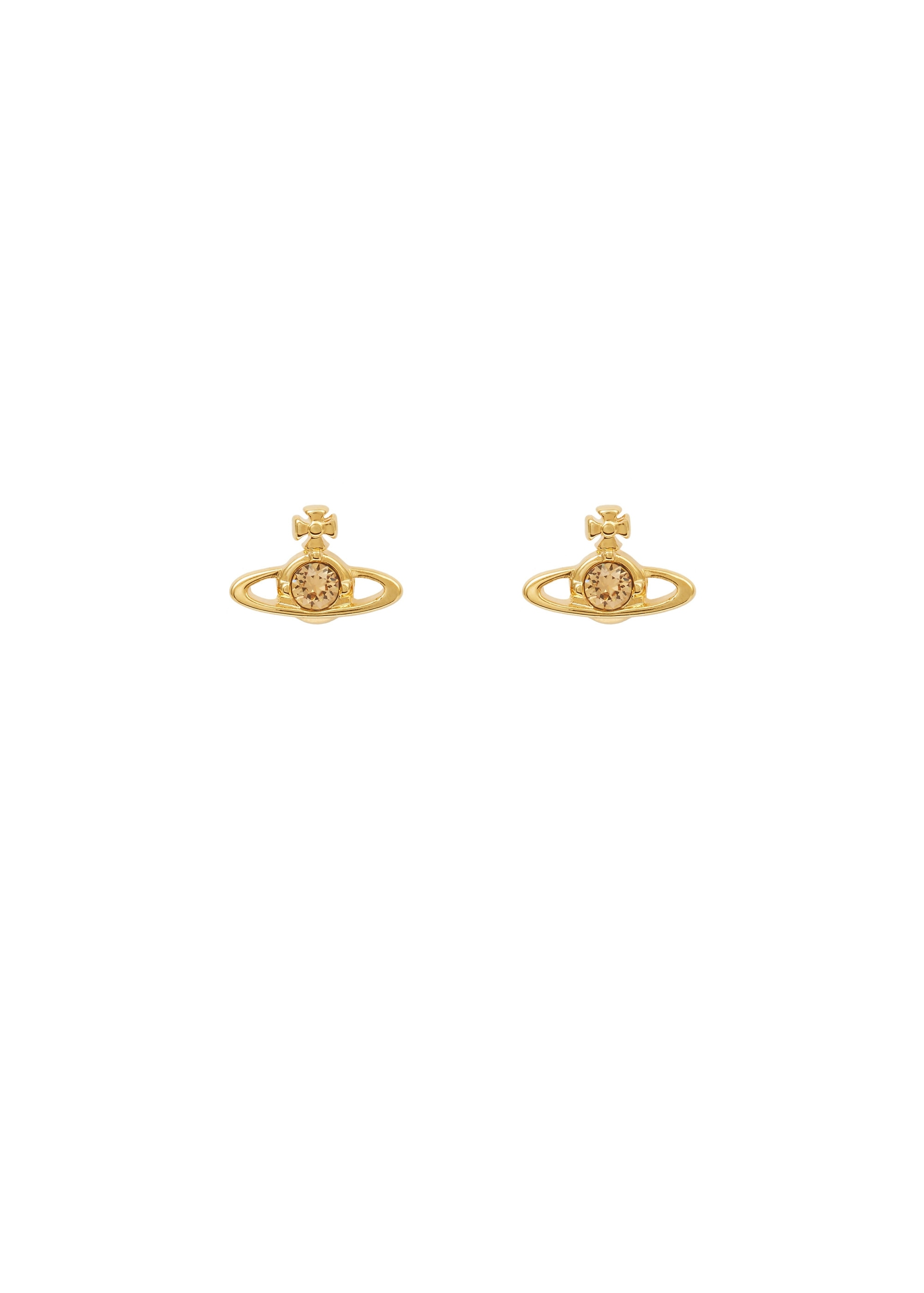 metallic earrings solitaire lyst jewelry gallery nano westwood vivienne in crystal