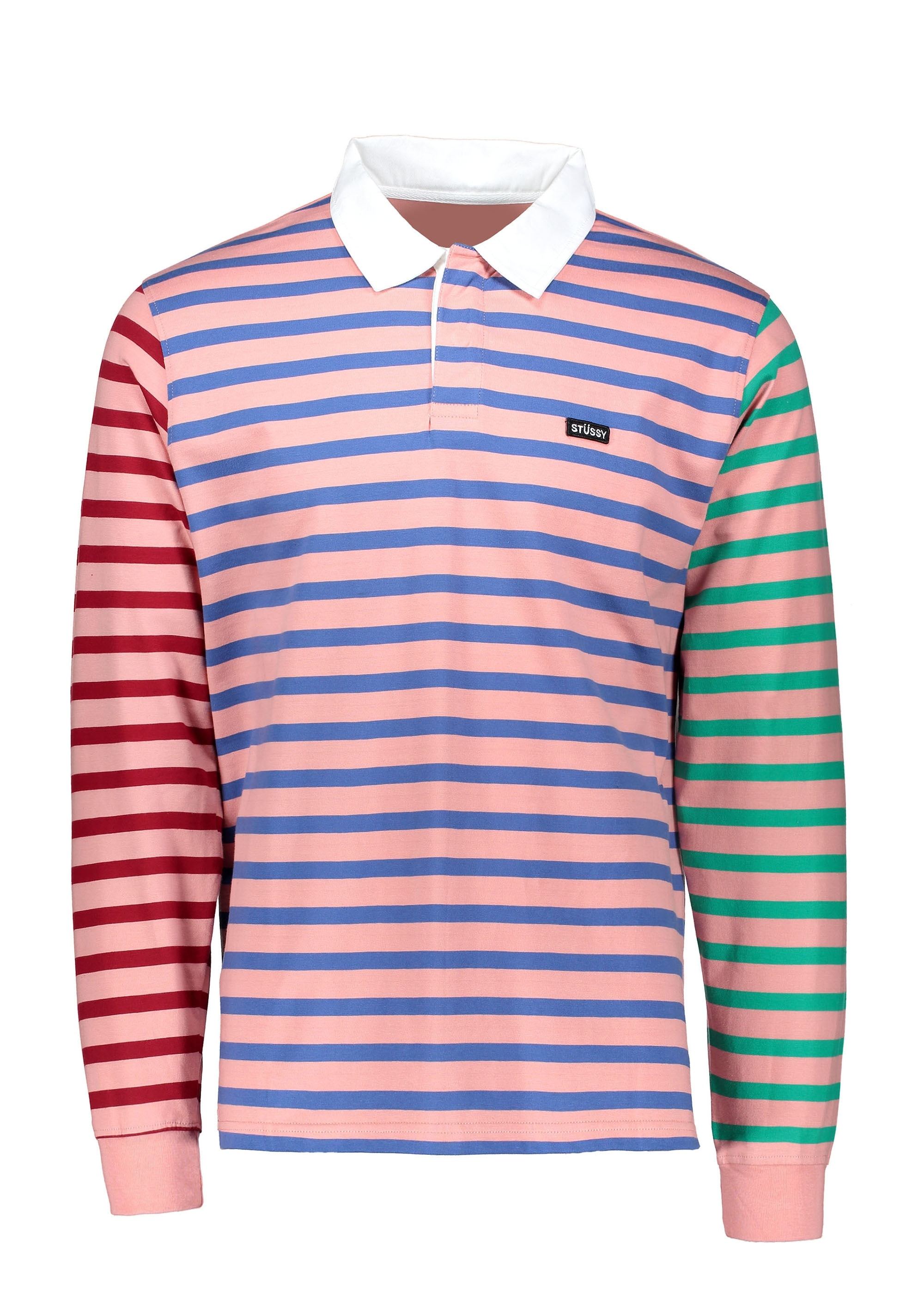 1862787b380 Stussy Jonah Stripe LS - Rugby Pink - Triads Mens from Triads UK